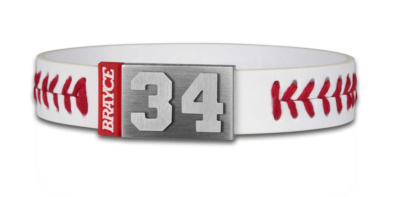 baseball bracelet player number 34