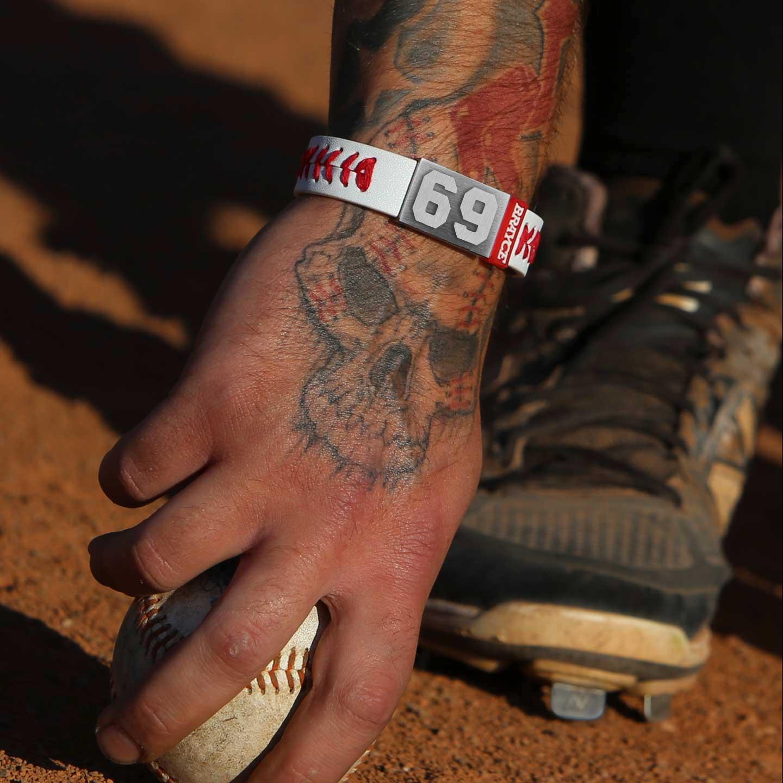 baseball bracelet player number 69