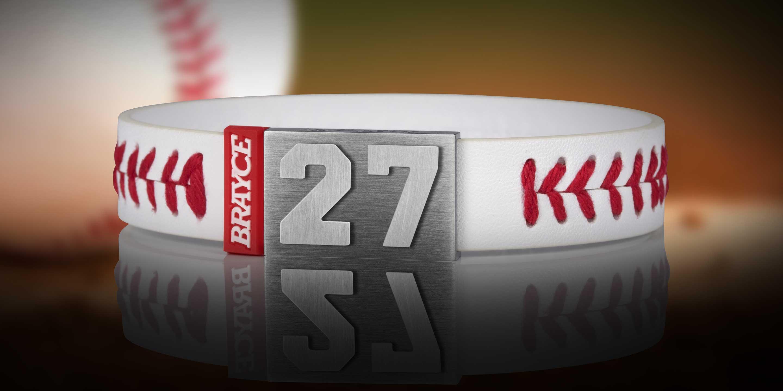 baseball bracelet player number 27