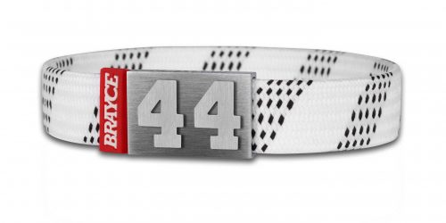 hockey lace bracelet white number 44