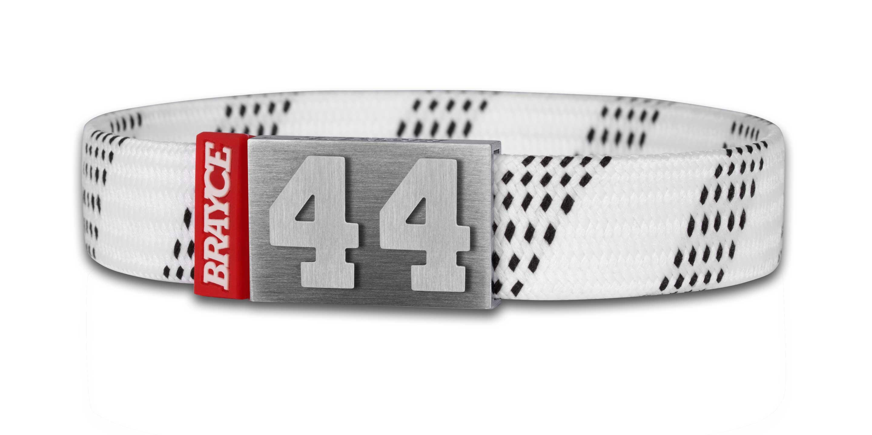 Brayce Hockey Lace Bracelet White