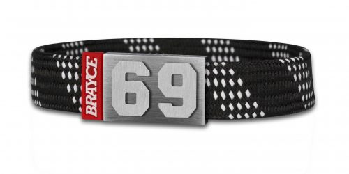 hockey lace black bracelet number 69