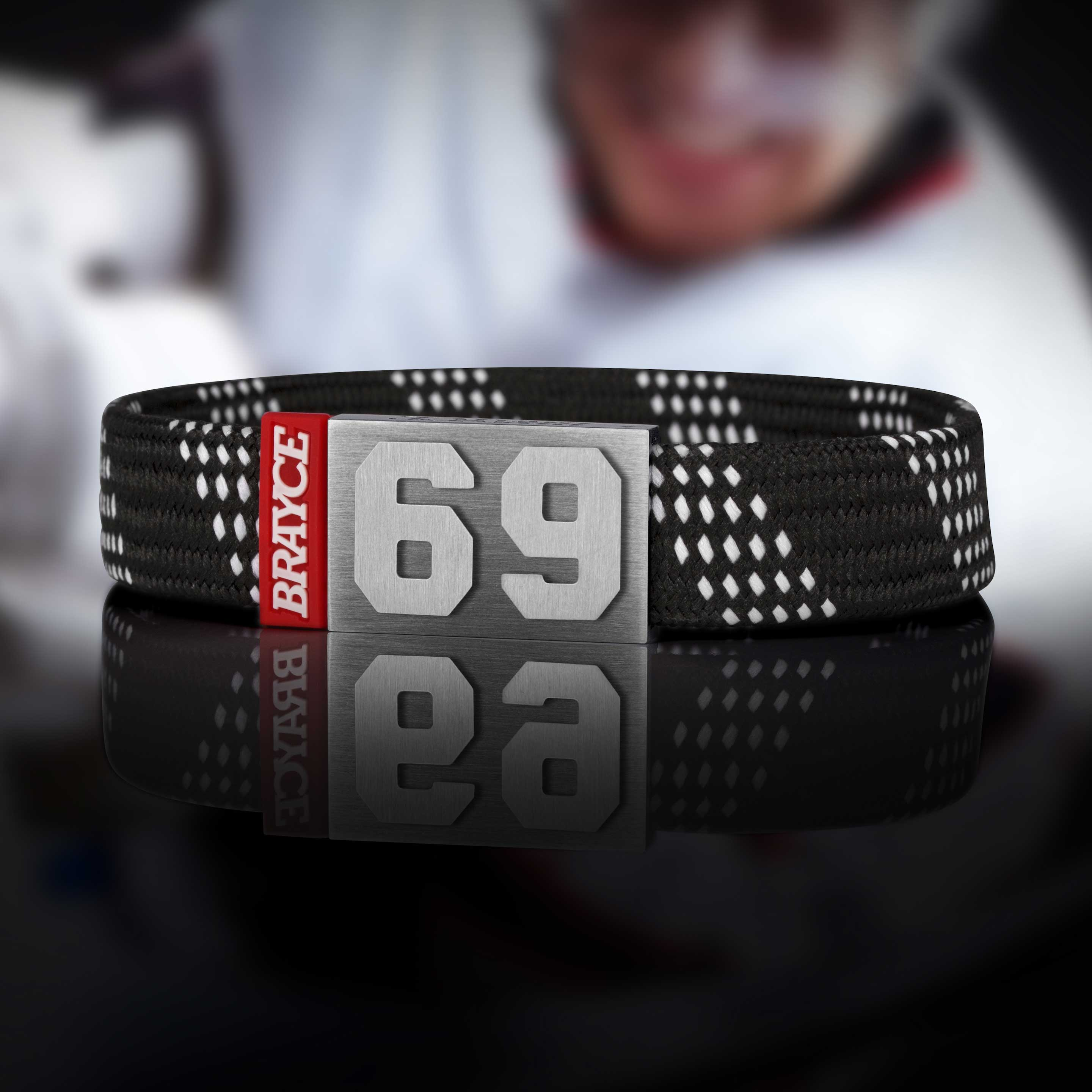 hockey lace black bracelet
