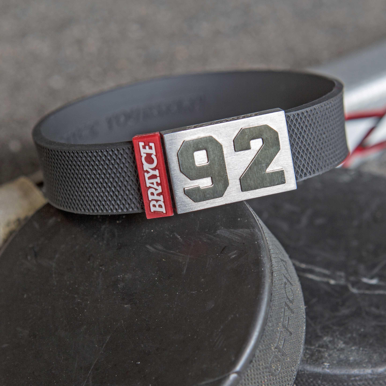 BRAYCE® hockey puck bracelet