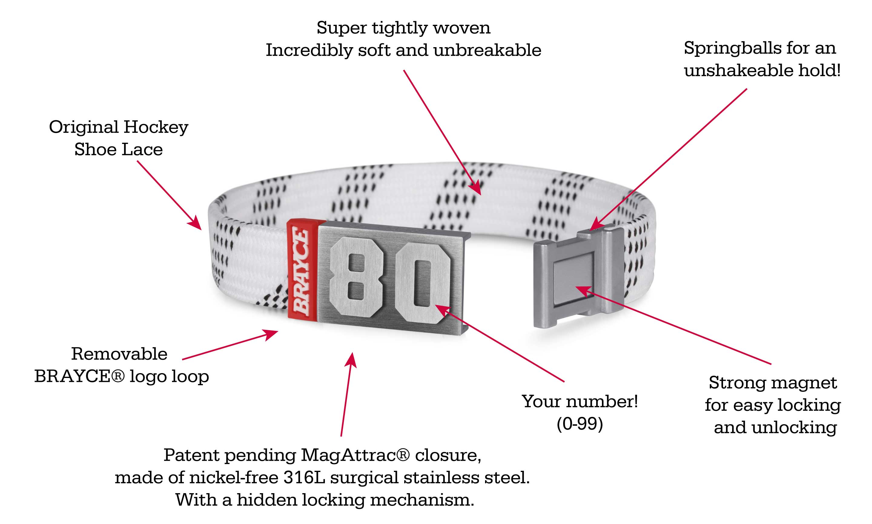 hockey lace bracelet white product information