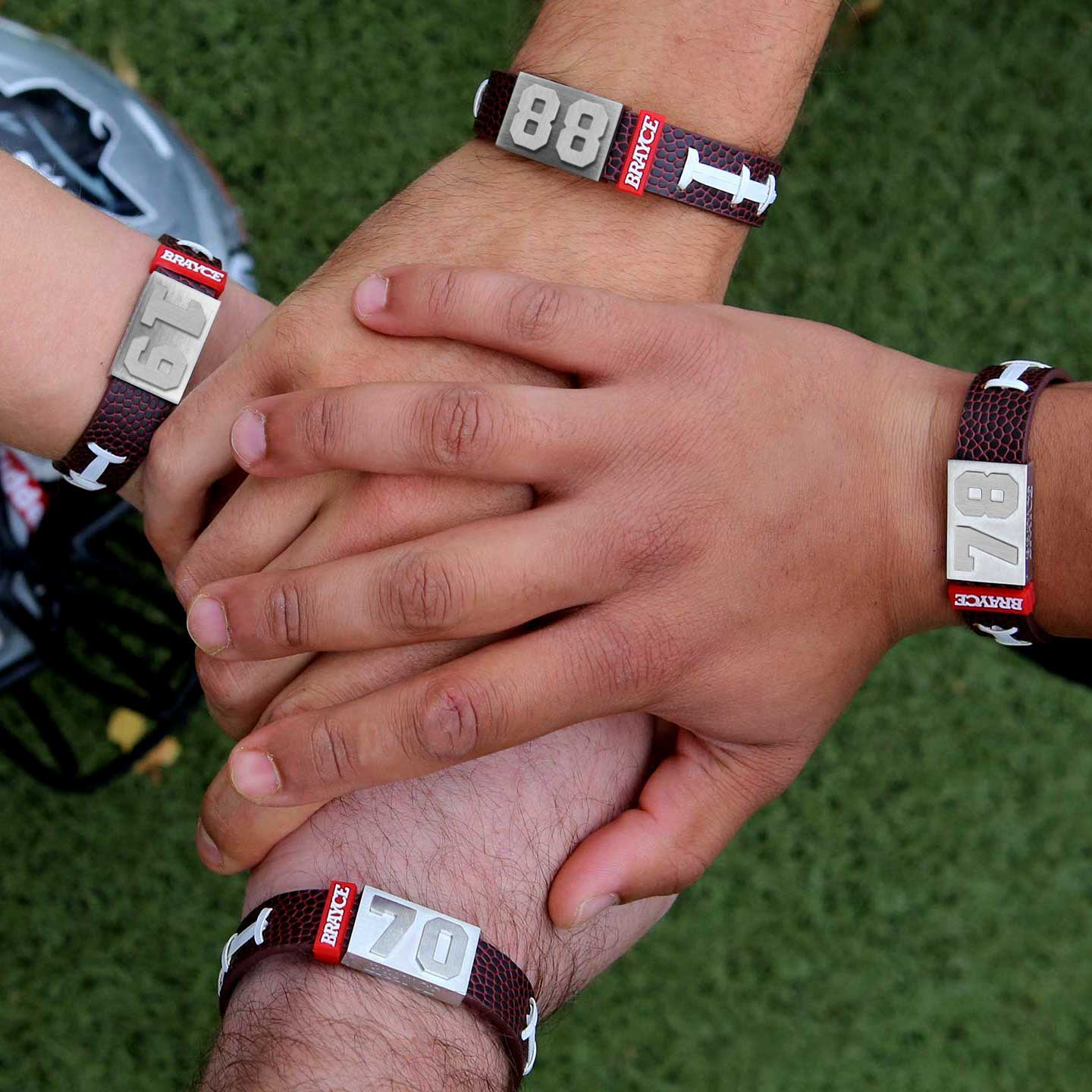football bracelet 4 different player number